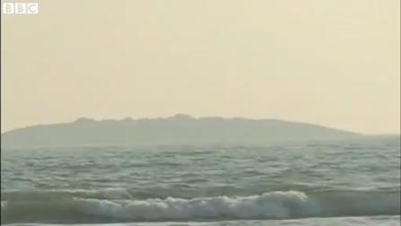 island rises from the sea