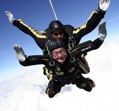 George Bush Sr. skydiving